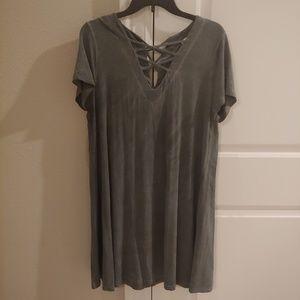 Umgee Green short sleeve dress Size Large
